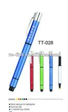 Sticker ball pen and highlighter