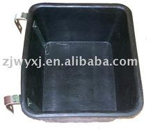 Flat back rubber tank,Rubber fence feeder w/metal hook,Feeding trough