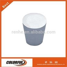 Silver Oxidation Aluminium alloy diecast Pillar kitchen furniture knob