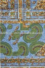 2012 new fashion design african wax fabric