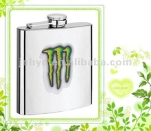 7oz stainless steel liquor hip flask with logo