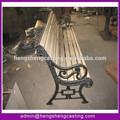 Excelente banco ao ar livre com pernas de fundição, exterior ferro fundido banco de jardim, bancada de ferro fundido com ripas de madeira