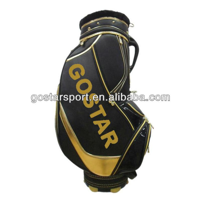 Unique Top Quality PU Leather Golf Bag