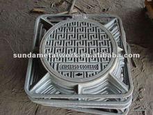 D400,Algeria Ductile Casting Iron Manhole Cover SD85S63/02 recess manhole cover