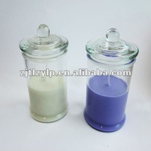 soy wax glass candle with a cover;yankee candle