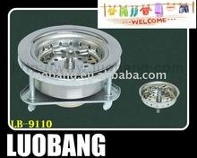 Stainless Steel Tripod Legs Twist-N-Lock Sink Drain Basket Strainer LB-9110