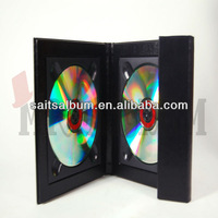 cd box paper dvd case leather cd holder to store DISC.