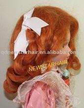 Hot sale Cheap Auburn Mohair Doll Wig
