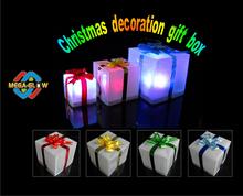 2014 new Christmas Tree decorative led gift box, Christmas decoration, Christmas gifts