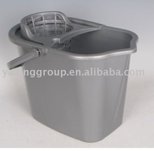 10L Plastic mop bucket with wringer/plastic mop bucket
