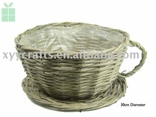 wicker tea cup with saucer (factory supplier)