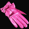 2013 new elegant leather gloves women with bow