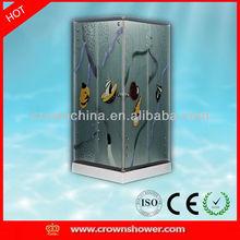 Colorful tempered glass square shower enclosure box doccia