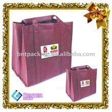 purple color pp non woven shopping bags