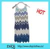 Custom sleeveless dresses mesh polyester mini woman dress