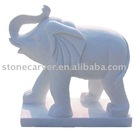 China Decorative White Marble Elephant Stone statue