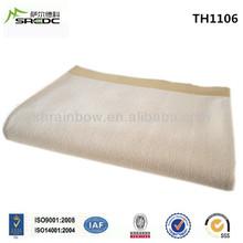 SREDC super soft king size woven solid color wool cashmere blanket