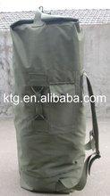 Green military outdoor canvas duffel bag