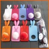 HOT Rabbit Bunny Rabito Rubber Case Cover For iPhone 4G