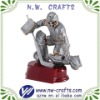 Resin silver hockey figure statue awards