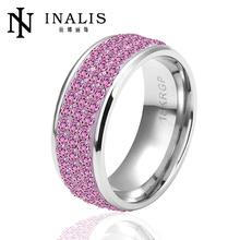 2014 austria fashion pink crystal pave rings R037