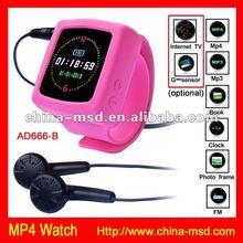 2012 new mp4 watch player 8gb FM radio best offfer