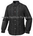 Mulher equipado forma camisa de tecido, camisas manga longa, repelente de água( sl0123aw)