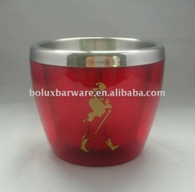 750ml Johnnie Walker Red Label Stainless Steel Acrylic Mini Ice Bucket Cola cooler