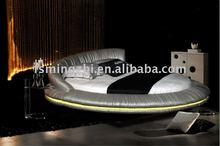 Romantic LED round bed AY235