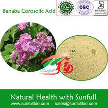 1%~98% Corosolic acid Banaba leaf extract manufacturer