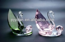 fashion lovely pink wedding favor gifts crystal swan