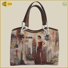 2014 Printed fashion PU Leather handbag