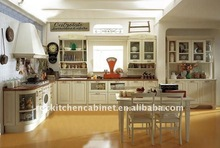 Glossy white Solid Wood kitchen cabinet