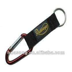 carabiner hook with Lanyard strap, aluminum hooks
