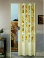 porte d'accordéon en plastique de série en verre de fleur