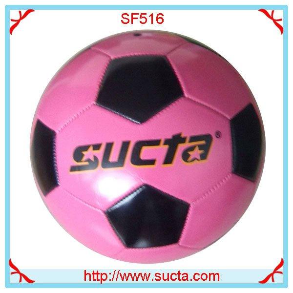 De color rosa 31 panel de fútbol cosido a máquina ST516PK