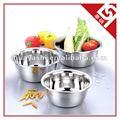 3 stück edelstahl 201 rührschüssel für kuchen/salat