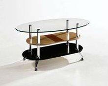 Three layer glass coffee table