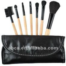 7pcs cosmetic makeup foundation pen makeup brush set synthetic nylon goat pony hair