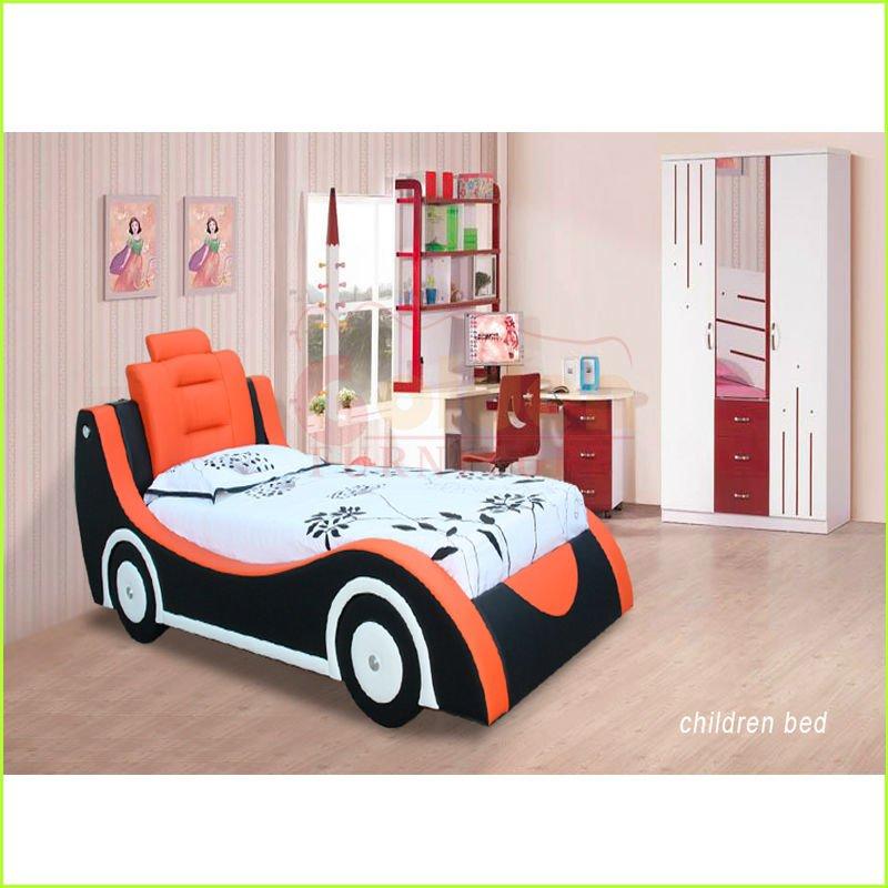 Azul y naranja nj 0143 lindo y los ni os de cart n de - Cama coche para ninos ...