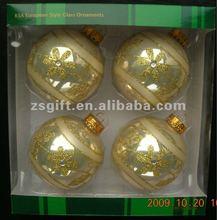 fashionable handicrafts christmas tree decorations glass ball