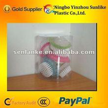 plastic flower type nail brush for bath gift set