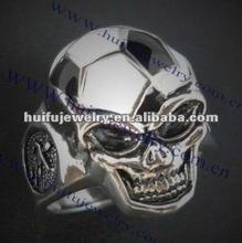 2015 fashion football skull design ring