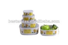 Wholesale square fresh keeper mixing salad melamine bowl with lid