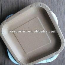 Kraft paper plate