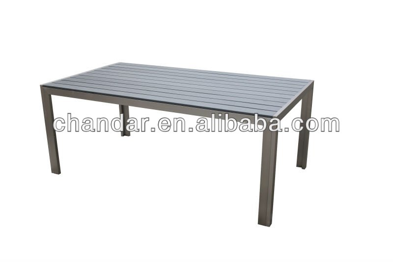 Jardin ext rieur en aluminium bross polywood table tables en m tal id du pro - Table metal exterieur ...