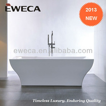 Acrylic Free standing Bathtub with freestanding faucet