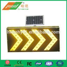 solar traffic led warning sign