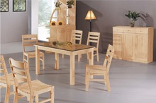 Solid Wood Dining Table and Chairs for Dining Room Furniture