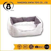 Wholesale cheap snow-white plush cat bed
